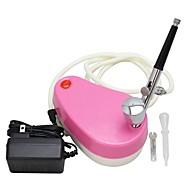 kit aérographe mini 0.3mm compresseur d'air ophir rose approprié pour l'art de maquillage des ongles
