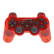 draadloze bluetooth gig controller voor ps3 (transparant rood)