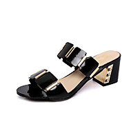 Women's Shoes Chunky Heel Open Toe Sandals Dress / Casual Black / White