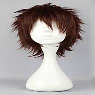 populære cosplay paryk naturlige parykker mands parykker mørkebrune korte krøllede animerede syntetisk hår parykker
