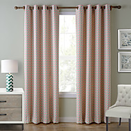 Chadmade SOFITEL Contemporary Heat Tranfer Print Coin Flower Pattern - Lined Curtain Panel Drapes- Red Coin
