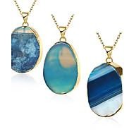 Ogrlice Ogrlice s privjeskom Jewelry Plava Ahat / Kamen / Pozlaćeni Party / Dnevno Oval Shape 1pc