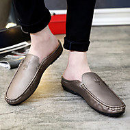 Men's Shoes Casual/Party & Evening/Drive Fashion PU Leather Slip-on Shoes Black/Gold/Orange 39-44