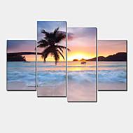 Modern Canvas Afdrukken Vier panelen Klaar te hangen,Horizontaal