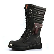 Men's Shoes Wedding / Outdoor / Office & Career / Party & Evening / Casual Synthetic Boots Black