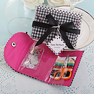 Black & White Houndstooth Sewing Kit With Ribbons BETER-ZH013