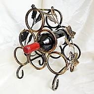 Kontinentalni željeza vino stalak retro šest bocama vina stalak za pohranu nositelj visi vino stakla wijn željeza bronce