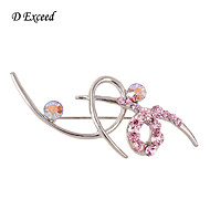 D Exceed New Arrival Fashion Brooches Pins Silver Vintage Crystal Brooch Bouquet For Wedding Womens Brooch
