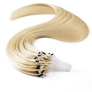 Neitsi 100% Menschenhaarverlängerungen Mikroringschleifen Haar 20 Zoll 25 Stränge
