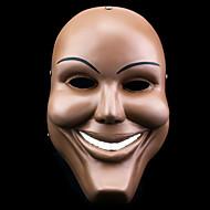 Maske Cosplay Fest/Feiertage Halloween Kostüme Beige Druck Maske Halloween Unisex