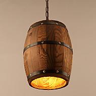 Závěsná světla ,  Retro Obraz vlastnost for Mini styl Dřevo / bambusObývací pokoj Ložnice Jídelna studovna či kancelář dětský pokoj Herní