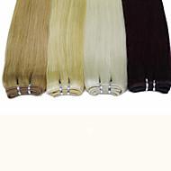 """100g / bundle 18 """"-24"""" de tejido # 1b # 4 # 27 # 613 extensiones rubias marrones cabello humano recto del pelo humano"""