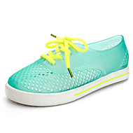 Women's Spring / Summer / Fall Comfort / Jelly Rubber Casual Flat Heel Lace-up / Hollow-out Green / Pink / Purple