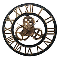 European Style Vintage Iron Mute Wall Clock(Bronze Color)