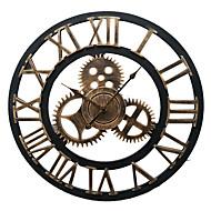 fer cru style européen mur muet horloge (couleur bronze)