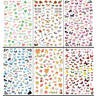 10pcs Water Transfer Printing Japanese Large Water To Stick The Maple Leaf The Butterfly