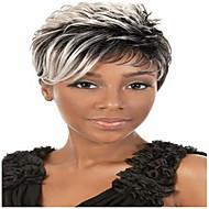 Peluca gris pelo pelucas sintéticas 2015 africano de moda las pelucas corto americano de la mujer recta
