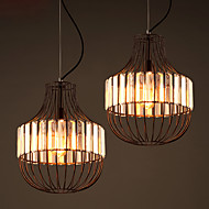 MAX 60W מנורות תלויות ,  מסורתי/ קלאסי צביעה מאפיין for קריסטל מתכתחדר שינה / חדר אוכל / חדר עבודה / משרד / כניסה / חדר משחקים / מסדרון /