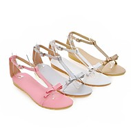 Women's Shoes Flat Heel Round Toe Sandals Casual Pink / White / Silver / Gold
