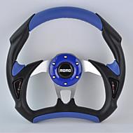 경적 버튼으로 새로운 보편적 인 310mm 13 인치 자동차 모모 수정 PU + PVC 소재 경주 스티어링 휠