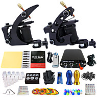 Complete Tattoo Kit 2 Tattoo Machines Mini power supply Inks Shipped Separately