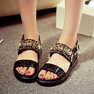 Women's Shoes Leatherette Flat Heel Wedges / Fashion Boots / Shoes & Matching Bags / Novelty Sandals / HeelsWedding