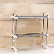"2 Layer Stainless Steel/ABS Microwave Oven Rack 64*24.5*64.5CM(25.2""*9.65""*25.39"")"