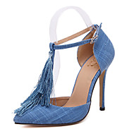 Women's Shoes Silk / Tulle Stiletto Heel Heels / Novelty / SlippersSandals / Heels / Flats / Boots / Fashion