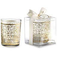 Golden Glass Tealight Holder Without Tealight