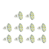 2w gu4 (mr11) led spotlight mr11 12 smd 5730 200-250 lm warm / cool wit dc12v 10 stuks