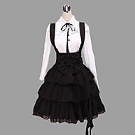 Long Sleeve Shirt Knee-length Suspender Skirt Cotton Classic Lolita Outfit