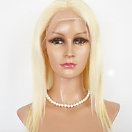 "Women Lace Front Wig 16""-22"" Brazilian Virgin Hair Color(Blonde) Straight Hair"
