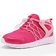 Girls' Shoes Outdoor / Casual Moccasin Synthetic / Tulle Fashion Sneakers / Loafers Black / Fuchsia