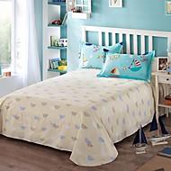 Ocean Dream 100% sarja de algodão 3 pcs conjunto de folhas de cama queen size