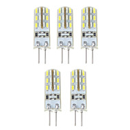 1.5W G4 LED corn žárovky T 24*5 SMD 3014 500 lm Přirozená bílá DC 12 V