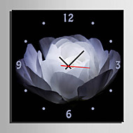E-HOME® White Flowers Clock in Canvas 1pcs