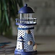 RGB פמוט מחושל ברזל מגדלור ומלאכות מתנות קישוט רומנטי בים התיכון בסגנון ביתי