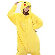 Kigurumi pigiama Nuovo Cosplay® / Pika Pika Calzamaglia/Pigiama intero Halloween Sleepwear Animal Giallo Collage Vello di corallo Kigurumi