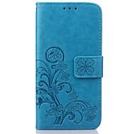 Varten Samsung Galaxy kotelo Lomapkko / Korttikotelo / Tuella / Flip / Koristeltu Etui Kokonaan peittävä Etui Kukka Tekonahka SamsungS7