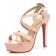 Women's Shoes Leatherette Stiletto Heel Peep Toe Sandals Wedding / Office & Career / Party & Evening