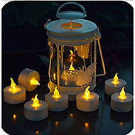 6st / setsmall ledde ljus med fjärrkontroll ljus rökfri flamfri elektronisk blixt gul flimmer ljus ljus