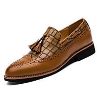 גברים-נעליים ללא שרוכים-דמוי עור-נוחות--משרד ועבודה יומיומי מסיבה וערב-עקב שטוח