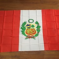 Perus flagg 3ftx5ft kvalitet polyester aktiviteter hjem innredning selges verdens flagg