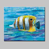 Pintados à mão Abstrato / Animal / PopModerno 1 Painel Tela Pintura a Óleo For Decoração para casa