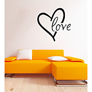 Parole e citazioni / Romanticismo / Forma Adesivi murali Adesivi aereo da parete,vinyl 43*43cm