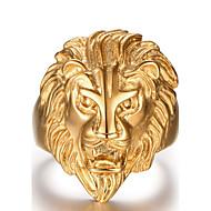 טבעות אופנתי יומי / קזו'אל / ספורט תכשיטים פלדת על חלד גברים טבעות הצהרה 1pc זהב צהוב