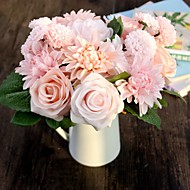 משי / פלסטיק ורדים / חינניות פרחים מלאכותיים