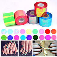 1roll 5cm * 100m gebroken glas nail art folie papier holografische laser glimmende sticker decoratie manicure gereedschappen