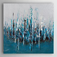 Hand Painted Oil Painting Landscape Blue Forest with Stretched Frame 7 Wall Arts®
