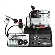 OPHIR  0.2mm 0.3mm 0.5mm 0.8MM Gravity Dual Single Action Airbrush Kit with Air Tank Compressor for Hobby - T-shirt
